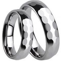 (Wholesale)Tungsten Carbide Faceted Ring - TG282