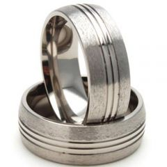 (Wholesale)Tungsten Carbide Triple Groove Ring - TG2888
