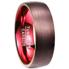 (Wholesale)Tungsten Carbide Espresso Red Ring-2918