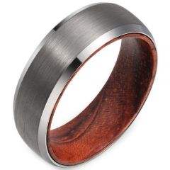 (Wholesale)Tungsten Carbide Wood Ring - TG2964