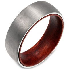 (Wholesale)Tungsten Carbide Wood Ring - TG2996