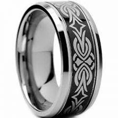 (Wholesale)Tungsten Carbide Beveled Edges Ring - TG2996