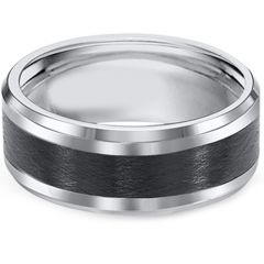 (Wholesale)Tungsten Carbide Double Groove Ring - TG3003A