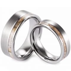 (Wholesale)Tungsten Carbide Deer Antler Ring - TG3008A