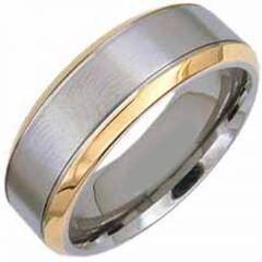 (Wholesale)Tungsten Carbide Beveled Edges Ring - TG3029