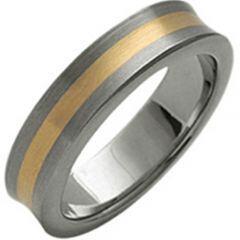 (Wholesale)Tungsten Carbide Center Line Concave Ring - TG3034