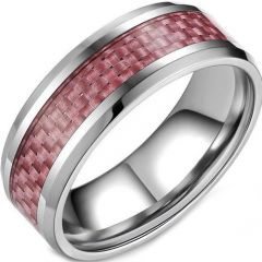 (Wholesale)Tungsten Carbide Ring With Carbon Fiber-TG3047A