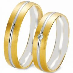 (Wholesale)Tungsten Carbide Center Groove Ring - TG3076