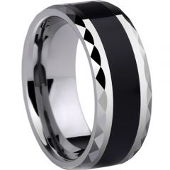 (Wholesale)Tungsten Carbide Faceted Ring - TG3085A