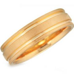 (Wholesale)Tungsten Carbide Double Groove Ring - TG3112
