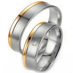 (Wholesale)Tungsten Carbide Offset Groove Ring - TG3119