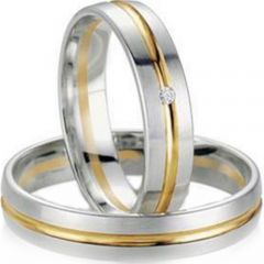 (Wholesale)Tungsten Carbide Center Groove Ring-3120