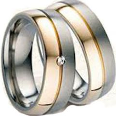 (Wholesale)Tungsten Carbide Center Groove Ring - TG3131