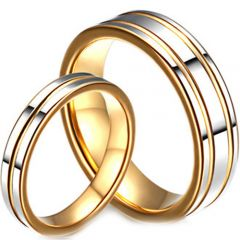 (Wholesale)Tungsten Carbide Single/Double Groove Ring-3147
