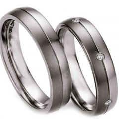 (Wholesale)Tungsten Carbide Center Groove Ring-3216