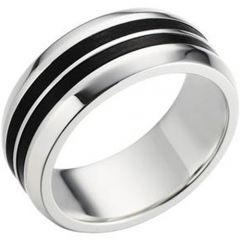 (Wholesale)Tungsten Carbide Double Groove Ring - TG3274