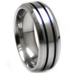 (Wholesale)Tungsten Carbide Double Groove Ring - TG3283