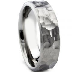 (Wholesale)Tungsten Carbide Hammered Ring - TG3295AA
