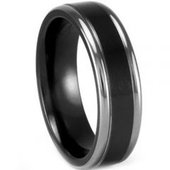 (Wholesale)Tungsten Carbide Double Groove Ring - TG3297