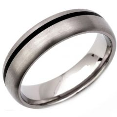 (Wholesale)Tungsten Carbide Dome Offset Line Ring - TG3310