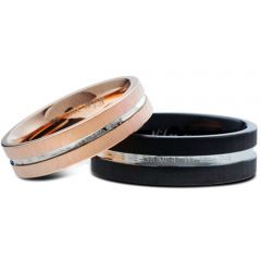 (Wholesale)Tungsten Carbide Center Groove Ring - TG3327