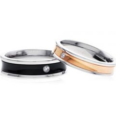 (Wholesale)Tungsten Carbide Ring With Cubic Zirconia - TG3328