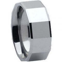 (Wholesale)Tungsten Carbide Faceted Ring - TG332