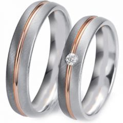 (Wholesale)Tungsten Carbide Center Groove Ring - TG3333