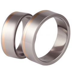 (Wholesale)Tungsten Carbide Offset Groove Ring - TG3348