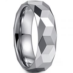 (Wholesale)Tungsten Carbide Faceted Ring - TG1660