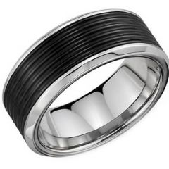 (Wholesale)Tungsten Carbide Five Groove Ring - TG3371