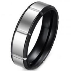(Wholesale)Tungsten Carbide Horizontal Groove Ring - TG3374