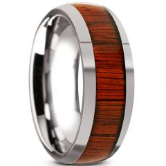 (Wholesale)Tungsten Carbide Wood Ring - TG2598