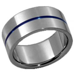 (Wholesale)Tungsten Carbide Center Groove Ring - TG3429