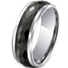 (Wholesale)Tungsten Carbide Faceted Ring - TG3440A