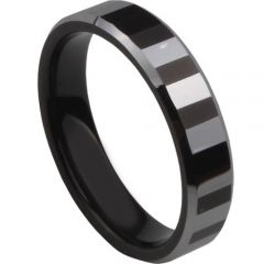 (Wholesale)Tungsten Carbide Faceted Ring - TG3456A