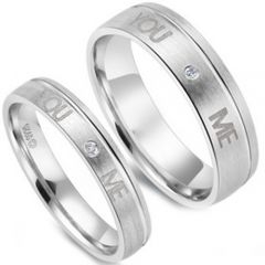 (Wholesale)Tungsten Carbide Ring With Cubic Zirconia - TG3473