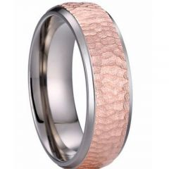 (Wholesale)Tungsten Carbide Hammered Ring - TG3488AA