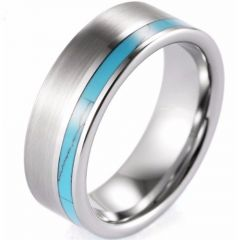 (Wholesale)Tungsten Carbide Imitate Turquoise Ring-3496A