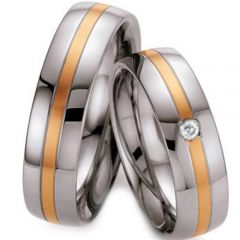 (Wholesale)Tungsten Carbide Double Groove Ring - TG3500