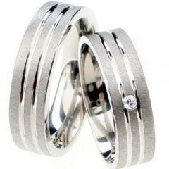(Wholesale)Tungsten Carbide Double Groove Ring - TG3509