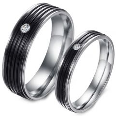 (Wholesale)Tungsten Carbide Ring With Cubic Zirconia-TG3525