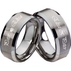 (Wholesale)Tungsten Carbide Ring With Custom Engraving-3557