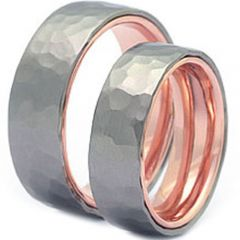 (Wholesale)Tungsten Carbide Hammered Ring - TG3596