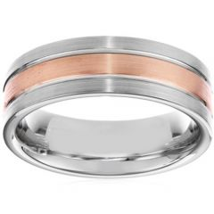 (Wholesale)Tungsten Carbide Center Groove Ring - TG3602