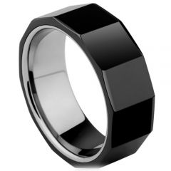 (Wholesale)Tungsten Carbide Faceted Ring - TG3630