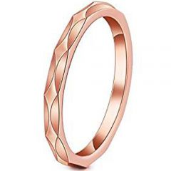 (Wholesale)Tungsten Carbide Faceted Ring - TG3759