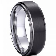 (Wholesale)Tungsten Carbide Step Edges Ring - TG3848