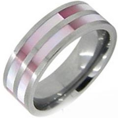 (Wholesale)Tungsten Carbide Abalone Shell Ring - TG3858
