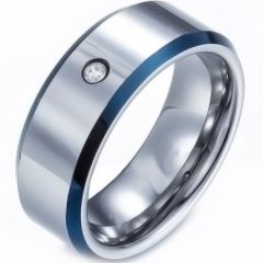 (Wholesale)Tungsten Carbide Ring With CZ-TG3885